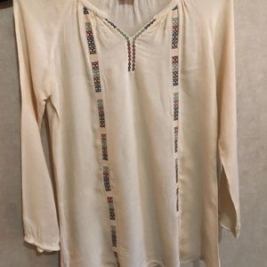 off white detailed tunic top